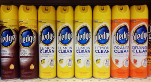 pledge lemon cleaner